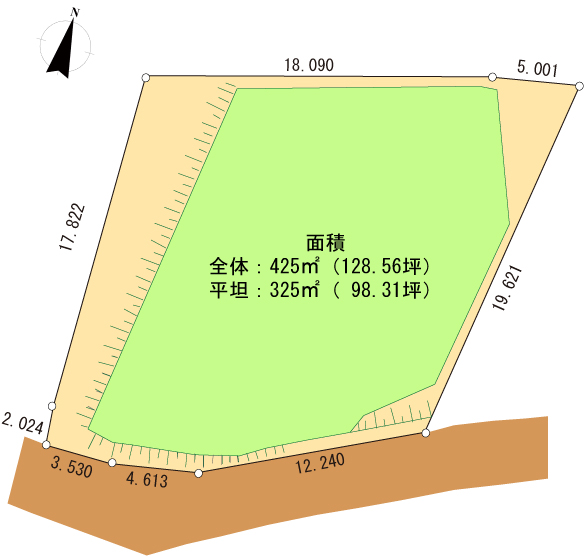 富士見ヶ丘別荘地R-9区画図