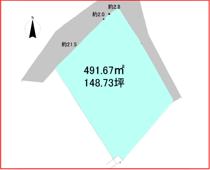 館山市布良 区画図