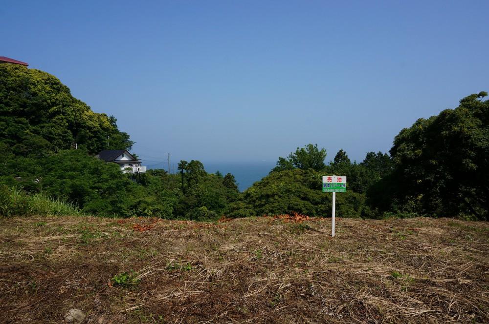富士見ヶ丘R-1 敷地 敷地越しに東京湾