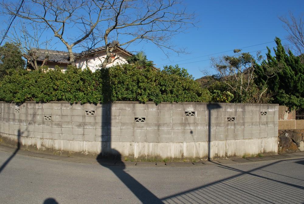 富津市岩瀬中古5DK 外観 ブロック塀
