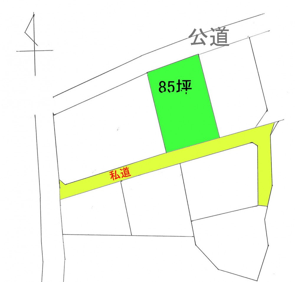 鋸南町下佐久間西白幡 区画図