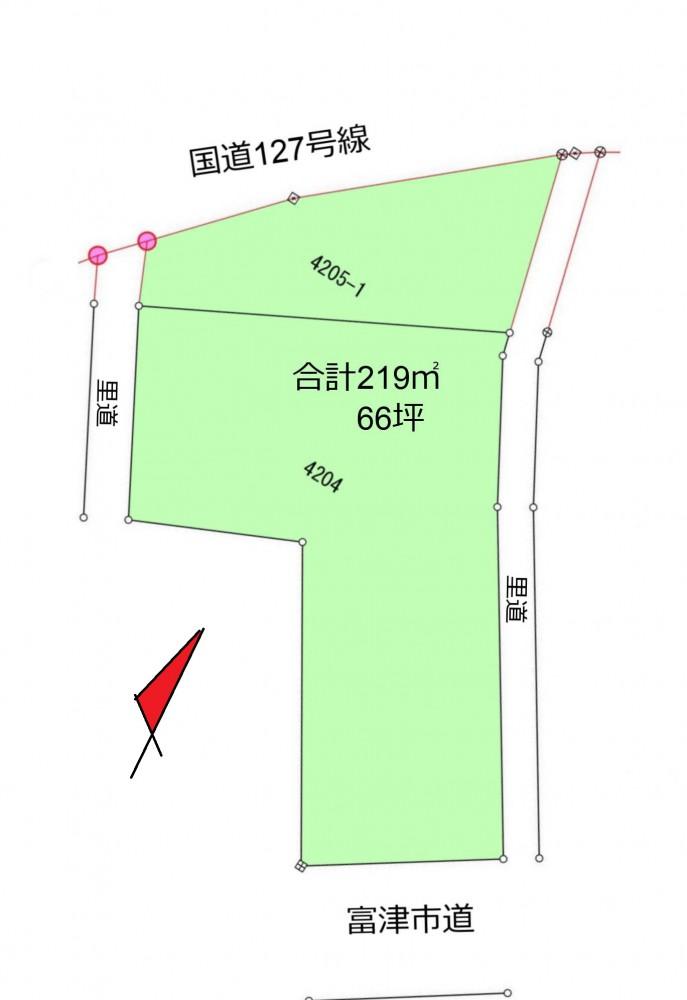 金谷66坪 区画図