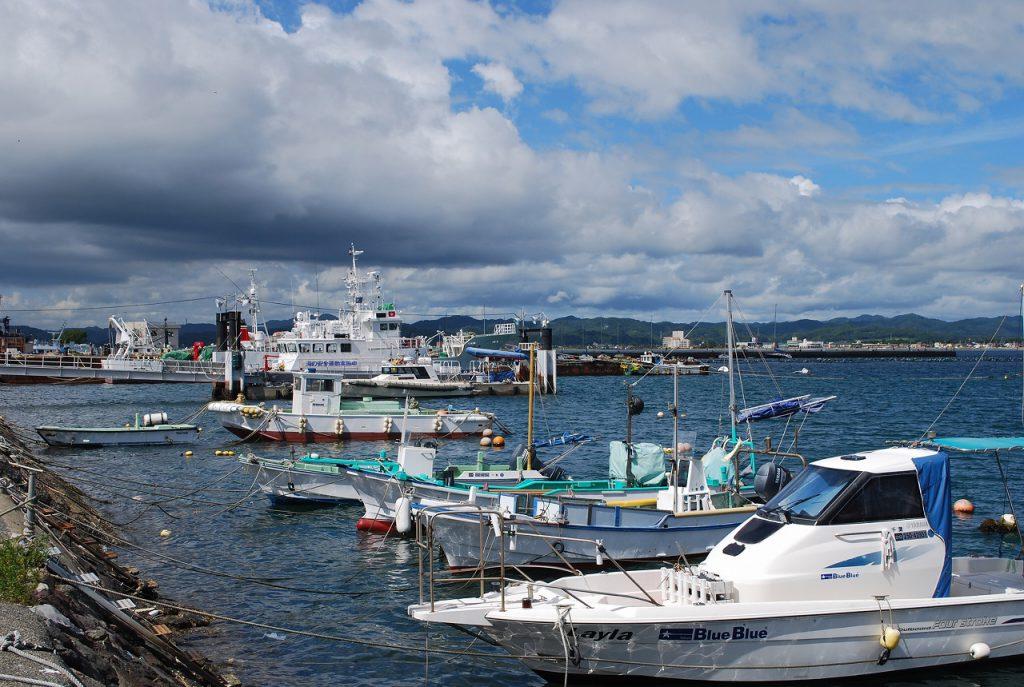 沖ノ島入口付近の港