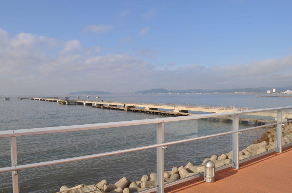 夕日海岸桟橋