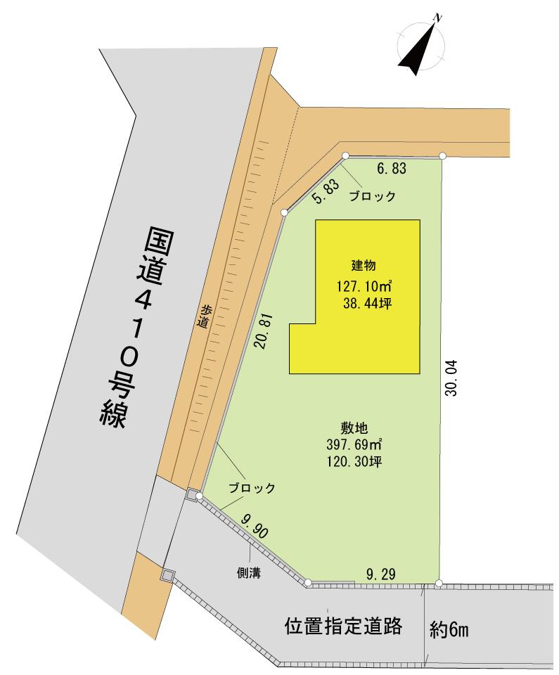 佐野新築区画図